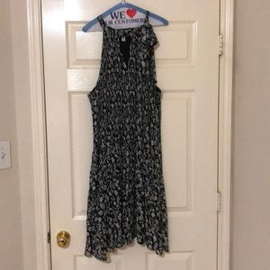 Black and light Grey floral dress